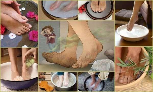 Ванночки для ног от запаха и потливости в домашних условияхрецепты