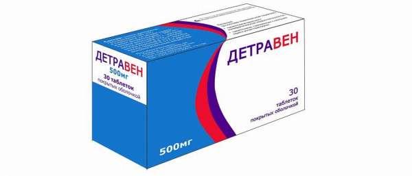 Таблетки Детравен