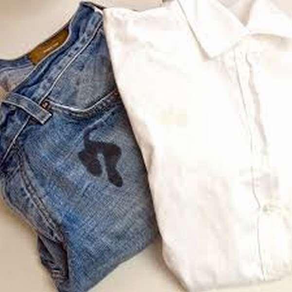Как отстирать жирное пятно на джинсах