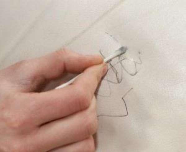 Как оттереть ручку от кожи и кожзама